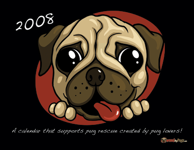 2008 Owned by Pugs Calendar