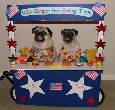 Piper and Annabell - The USA Competitive Eating Team
