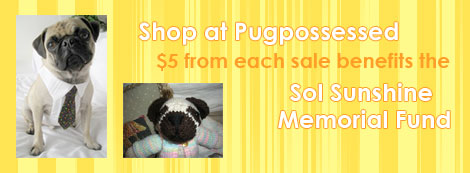 Shop at Pugpossessed to Benefit the Sol Sunshine Memorial Fund