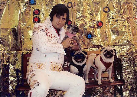 Benjman, Henry & Luna with Elvis