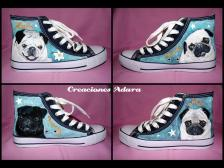 Custom made pug sneakers