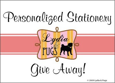 Lydia & Pugs Stationary Giveaway