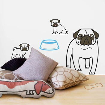 Pug Wall Stickers